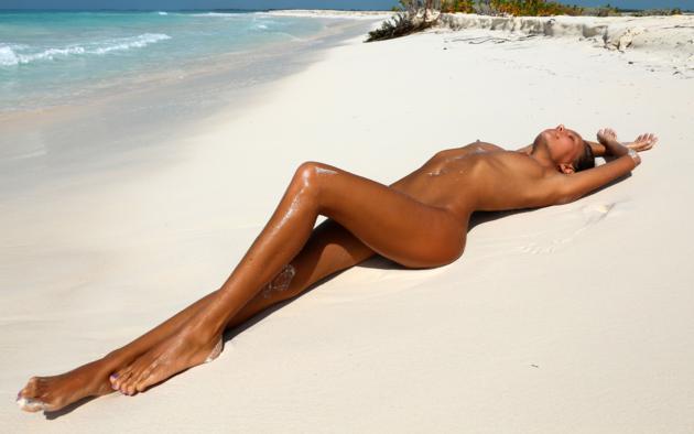 beach, brunette, nude, tiny tits, katya clover, mango a, tanned, sea, ocean, tits, boobs, wet, legs