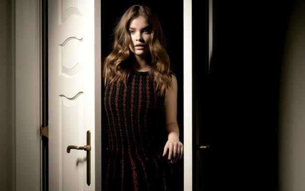 barbara palvin, model, brunette, perfect face, beautiful, nice skin, dress