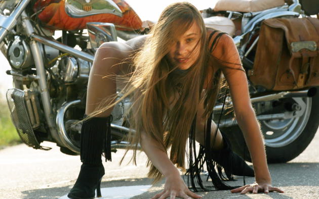 Freya A, Bike, Motorcycle, Long Hair, Boots