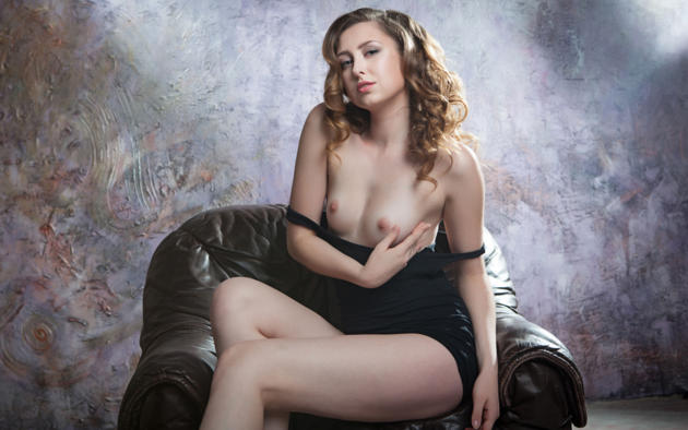 Ginger Frost, Boobs, Hot, Curly Hair, Black Dress, Tits, Nipples