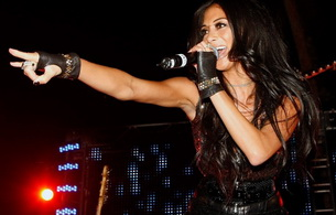 nicole scherzinger, singer, actress, dancer, brunette, personality, brunette, sexy babe, long hair, close up, performing, on stage, pcd, pussy cat dolls, sexy dressed, smile, celebrity, star