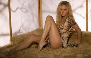 blonde, long legs, fur, beautiful female legs, zdenka podkapova, graceful a foot, sexy legs