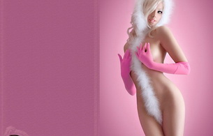 lingerie, white, blonde, nude