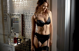 lingerie, black, parfume, stockings, black lingerie, lingerie series
