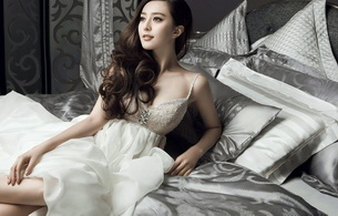 asian, bed, dress, beauty, exotic, sexy babe, long hair, erotic