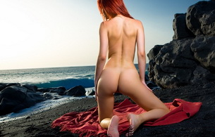 red-haired, nude, naked, ass, ariel, sex soles of foot, redhead, ariel piper fawn, beach