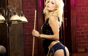 lingerie, blonde, snooker, sexy, hot, ass, black lingerie