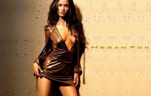 actress, brunette, megan fox, sexy, shiny dress