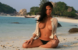 jenya d, eugenia diordiychuk, katie fey, brunette, tits, beach, tropics, thailand, sea, big tits, sexy, top open, tits out, yevgeniya diordiychuk, playboy, playmate of the year, look, tan