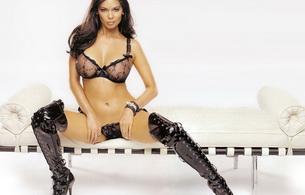tera patrick, porn actress, boots, lingerie, sexy, hot, brunete