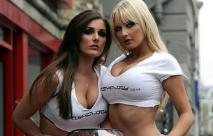brunette, blonde, big titts, lucy pinder, michelle marsh