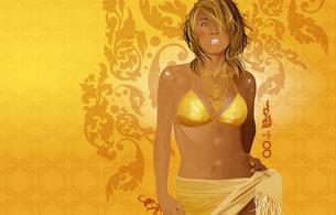 fantasy, asian, blonde