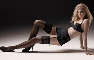 lingerie, blonde, stockings