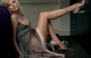 сharlize theron, blonde, actress, dress, beautiful legs