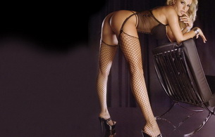blonde, lingerie, ass, long legs, stockings, garterbelt, beautiful female legs, butt, heels, bending, fishnet, dorota rabczewska, doda, doda elektroda