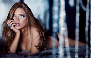 adriana lima, model, lips, eyes