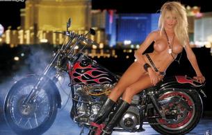 brandi bagley, model, blonde, nude, big tits, pussy, knee boots