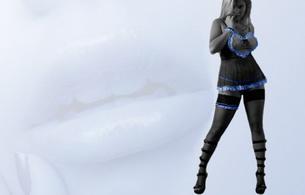 maria key, model, stockings