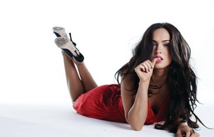 megan fox, brunette, dress, actress, model, real celebs wall