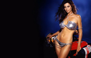 swimsuit, brunette, catherine bell, actress, hollywood, shiny, bikini, sexy babe