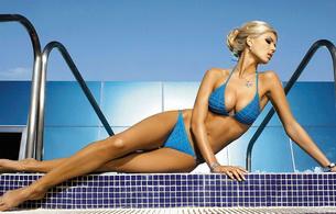 blonde, bikini, petra cubonova