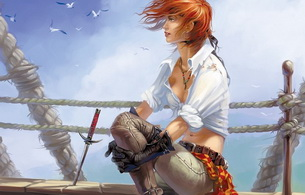 pirate, red-haired