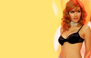 elisha cuthbert, red-haired, lingerie, actress