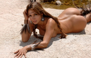 sand, indian, squaw, nude, naked, braid, feathers, creek, pond, ass, tits, rocks, native american, vanessa adriazola, beautiful, esperanza gomez