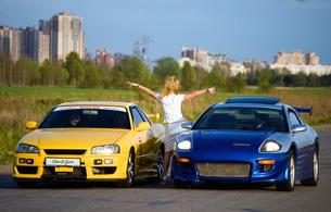 blonde, car