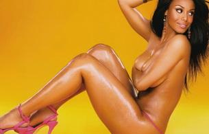 brunette, smile, lingerie, black, ebony, ebony gold
