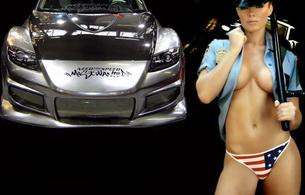 lingerie, police, car