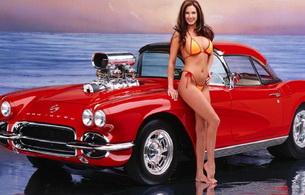 bikini, smile, car, hot rod, skinny, delicious, sexy