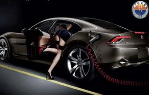 stockings, car