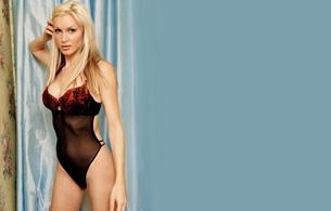 blonde, lingerie