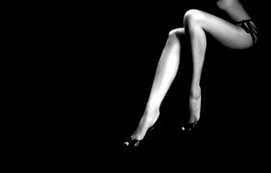 lingerie, long legs, black & white