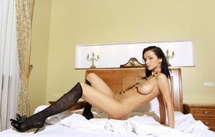 titts, brunette, stockings, katie fey