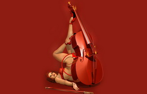 red-haired, lingerie, musician