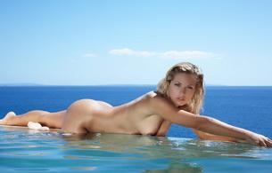 blonde, nude, titts, jenny, jenni kohoutova, wet, pool, ocean