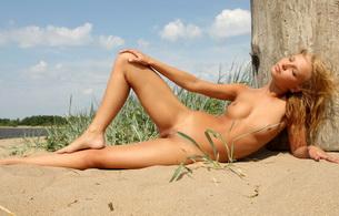 sand, nude, pussy, vagina, sexy, sex, blond, lana, lana s