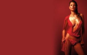 marisa miller, model, lingerie, oiled, wet, brunette