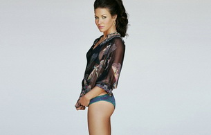 evangeline lilly, actress, brunette, lingerie, minimalist wall