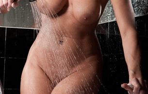 wet, nude, boobs, shower