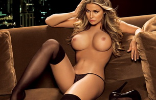 carmen electra, lingerie, actress, blonde, titts, stockings