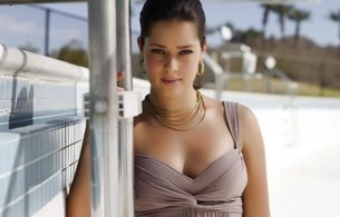 anna ivanovic, sporty, brunette, dress, smile