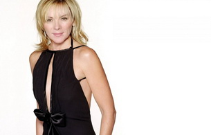 kim cattrall, actress, blonde, smile
