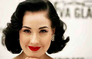 dita von teese, model, artist, actress, brunette, smile