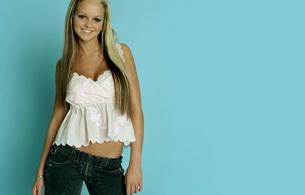 jennifer ellison, actress, singer, blonde, smile, jeans
