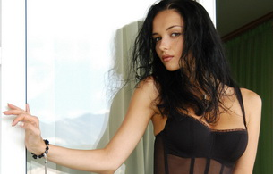 katie fey, model, brunette, negligee, yevgeniya diordiychuk, look, eyes, lingerie, beautiful