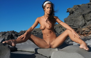 melisa, pussy, nude, naked, spreading, vagina, tits, boobs, big boobs, sexy, model, titts, melisa mendiny, rock, outdoor, tan, tanned, hot