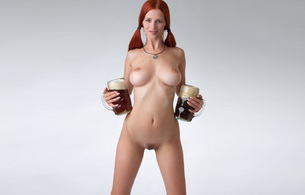 redhead, naked, pussy, breast, sexy, boobs, nipples, pigtail, trimmed, pubic hair, beer, ariel, ariel piper fawn, gabrielle lupin